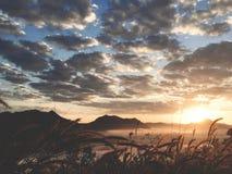 Buena salida del sol de la buena visión foto de archivo