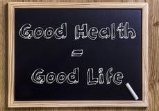 Buena salud - buena vida fotos de archivo