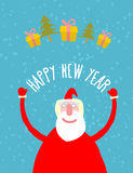 Buena Santa Claus con los regalos Abuelo con una barba blanca en r Fotografía de archivo libre de regalías