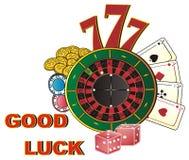 Buena suerte en casino Fotografía de archivo