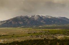 Buena Vista Colorado. View of Buena Vista Colorado on a cloudy day Stock Images