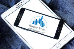 Buena vista logo. Logo of the american buena vista pictures on samsung mobile phone on samsung tablet Royalty Free Stock Photography