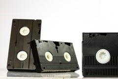 Buenas cintas de video viejas Grabaciones polvorientas de la familia en datos sólidos Foto de archivo