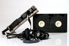 Buenas cintas de video viejas Grabaciones polvorientas de la familia en datos sólidos Fotografía de archivo