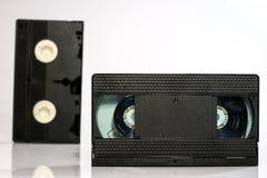 Buenas cintas de video viejas Grabaciones polvorientas de la familia en datos sólidos Foto de archivo libre de regalías