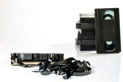 Buenas cintas de video viejas Grabaciones polvorientas de la familia en datos sólidos Imagen de archivo libre de regalías