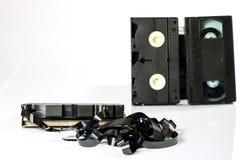 Buenas cintas de video viejas Grabaciones polvorientas de la familia en datos sólidos Imágenes de archivo libres de regalías