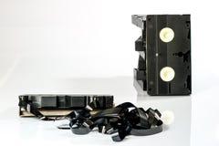 Buenas cintas de video viejas Grabaciones polvorientas de la familia en datos sólidos Fotos de archivo