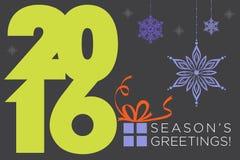 Buenas fiestas 2016 años Foto de archivo libre de regalías