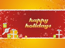 Buenas fiestas con los regalos Foto de archivo libre de regalías