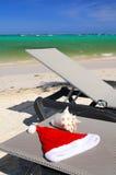 Buenas fiestas en la playa Foto de archivo