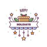 Buenas fiestas Ilustración del vector Fotografía de archivo libre de regalías