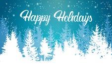 Buenas fiestas montaña Forest Landscape Background del invierno Imagenes de archivo