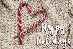 Buenas fiestas muestra del texto, tarjeta de felicitación la Navidad elegante plana Fotos de archivo libres de regalías
