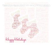 Buenas fiestas nube de la palabra Imagen de archivo libre de regalías