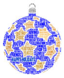 Buenas fiestas nube de la palabra Imagen de archivo