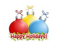 Buenas fiestas ornamentos Imágenes de archivo libres de regalías