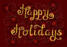 Buenas fiestas oro Foto de archivo libre de regalías