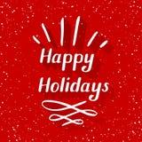 Buenas fiestas pequeño Imagen de archivo libre de regalías