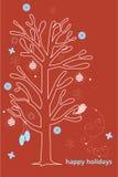 Buenas fiestas tarjeta Fotografía de archivo libre de regalías