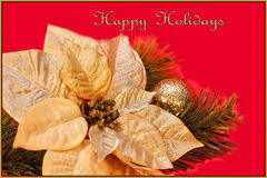 Buenas fiestas tarjeta Imagen de archivo
