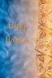 Buenas fiestas tarjeta Imagenes de archivo