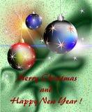 Buenas fiestas tarjeta con las estrellas stock de ilustración