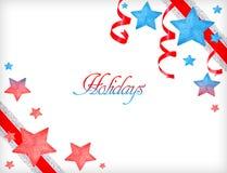 Buenas fiestas tarjeta de felicitación Fotos de archivo