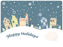 Buenas fiestas tarjeta de felicitación estacional Foto de archivo libre de regalías