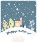 Buenas fiestas tarjeta de felicitación estacional stock de ilustración