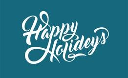 Buenas fiestas texto Imágenes de archivo libres de regalías