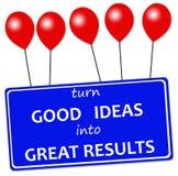 Buenas ideas Imágenes de archivo libres de regalías