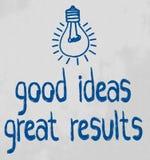 Buenas ideas Imagen de archivo libre de regalías