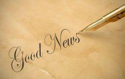 Buenas noticias Imagen de archivo