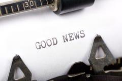 Buenas noticias Fotografía de archivo libre de regalías