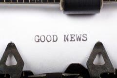 Buenas noticias Imagen de archivo libre de regalías