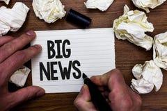 Buenas noticias del texto de la escritura de la palabra El concepto del negocio para conocer acciones nadie oyó hablar él todavía fotos de archivo libres de regalías