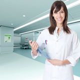 Buenas noticias en el hospital fotografía de archivo libre de regalías