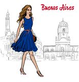 Bueno Aires royaltyfri illustrationer