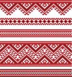 Bueno bordada del color rojo como hecho a mano Imagen de archivo