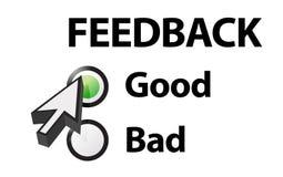 Bueno seleccionado en una pregunta del feedback stock de ilustración