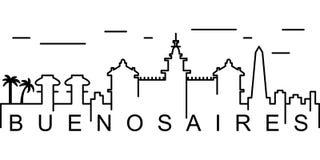 Buenos Aires översiktssymbol Kan användas för rengöringsduken, logoen, den mobila appen, UI, UX royaltyfri illustrationer