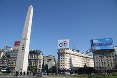 Buenos Aires. The needle in Buenos Aires (obelisco), famous landmark and symbol of the capital of Argentina. This image was taken on May 14th, 2008 and can be stock images