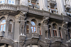 Buenos Aires, Argentina. Architecture of buildings in busy Buenos Aires royalty free stock photo