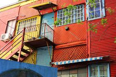 Caminito color houses in Argentina stock photos