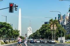 Buenos Aires, Argentina - 9 de abril de 2015: Negócio não identificado p Fotos de Stock Royalty Free