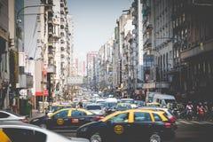 BUENOS AIRES, ARGENTINA - 30 DE JANEIRO DE 2018: Avenida de Corrientes mim Imagens de Stock