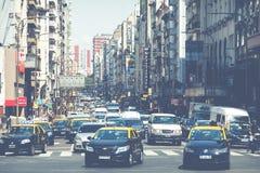 BUENOS AIRES, ARGENTINA - 30 DE JANEIRO DE 2018: Avenida de Corrientes mim Foto de Stock