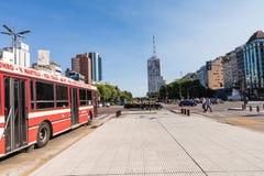 BUENOS AIRES, ARGENTINA - 30 DE JANEIRO DE 2018: Avenida do 9 de julho dentro Foto de Stock Royalty Free