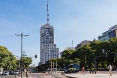 BUENOS AIRES, ARGENTINA - 30 DE JANEIRO DE 2018: Avenida do 9 de julho dentro Fotografia de Stock
